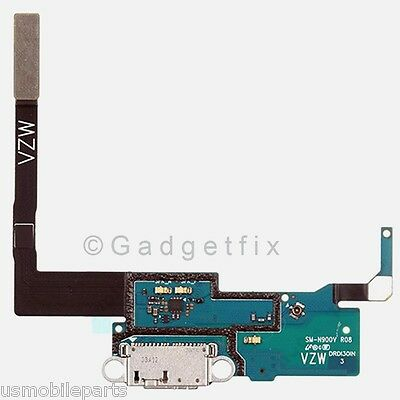 US Samsung Galaxy Note 3 N900V USB Flex Cable Charger Charging Dock Port + Mic