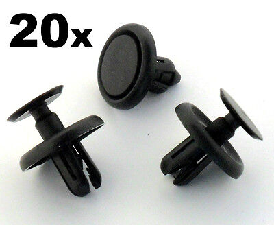 20x Lexus & Toyota Plastic Clips for Engine Bay Covers & Shields (7mm Hole)