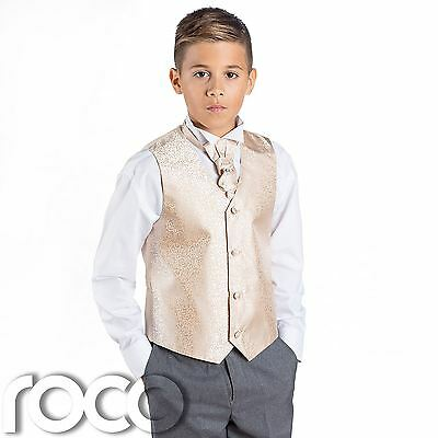 Boys Gold & Grey Suit, Page Boy Suits, Boys Wedding Suits, Boys Suits, Swirl