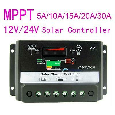 10A/15A/20A MPPT Solar Panel Regulator Charge Controller 12V/24V Auto Switch TLC