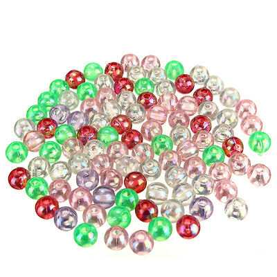 100 Pcs 5mm Round Luminous Glow Rig Beads Sea Fishing Lure Floating Float Tackle