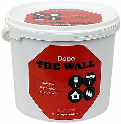Dope The Wall - Opaque Acrylic Emulsion Paint - Great For Fills & Backgrounds