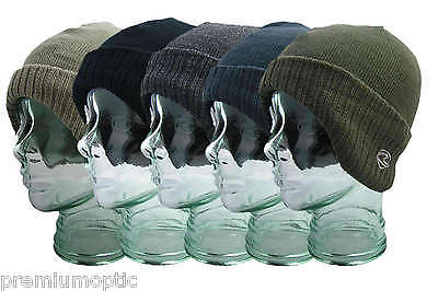 Men's Youth Unisex Ribbed POLAR Fleece GERMAN style BEANIE hat 5 great COLOURS