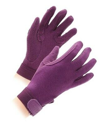 Shires Horse Riding Gloves - Purple - Adults Medium