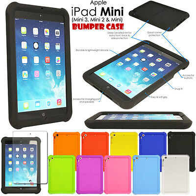 Rugged Soft Silicone Shock Proof Kids BUMPER Case for Apple iPad Mini 1 2 3