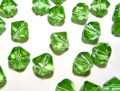 100pc Crystal Glass Value Bicone Beads- Light Green 6mm (BB6012) Bulk Lot
