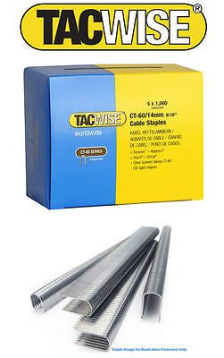 5000 X 14mm Tacwise CT60 (36 Tipo) Cable Costuras Grapas (1.4cm) Galv 0356