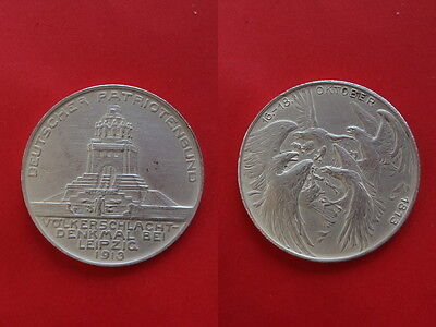 Sachsen Medal DE Patriot union 1913 Monument to the Battle of the Nations Silver