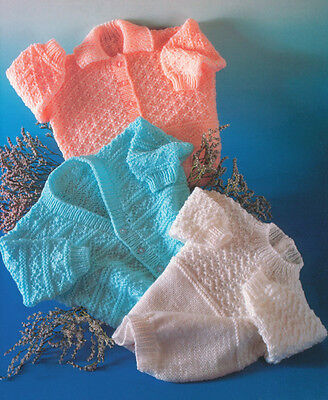 Textured Baby Childrens Sweater & Cardigans  0-2 years~ DK Knitting Pattern