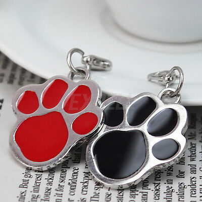 2pcs Puppy Pet Dog Cat Paw Foot Print ID Name Collar Personalized Tag Engraved