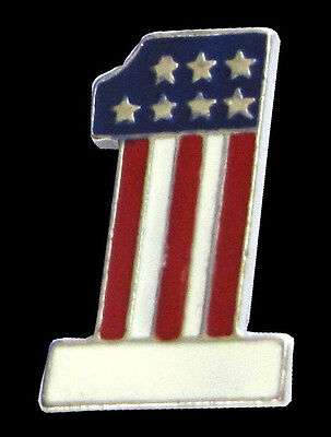Usa 1 Patriotic Vest Pin  * Made In The Usa * Motorcycle Biker Jacket Pin