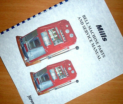 MILLS Bell HI TOP Slot Machine Ownwers Service MANUAL