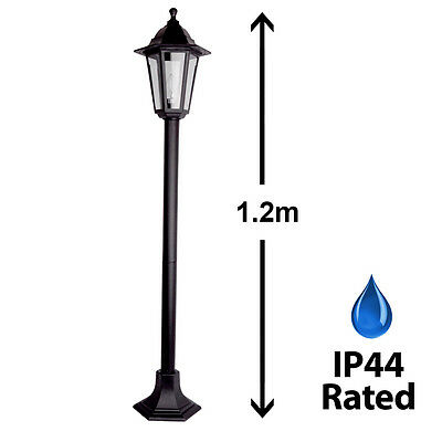 Traditional Black Outdoor Garden Patio Driveway Lamp Post Lantern Lamppost Light