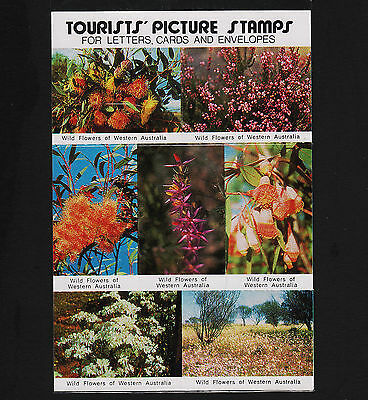 Unopenned Package of 7 Australia Flower tourist picture stamps