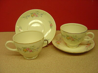"""Homer Laughlin China FERNDALE Two Cup and Saucer Sets 2 5/8"""""""