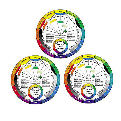 Color Wheel Small Color Mixing Guide, Pack of 3 (3501)