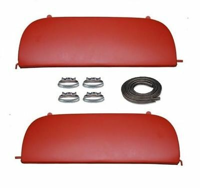 49 50 Chevy Bel Air & Deluxe Metal Fender Skirts With Clips 1949 1950