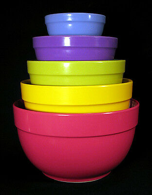 Set of 5 Discontinued MICHAEL GRAVES Nesting Mixing Bowls Melamine Postmodern NR