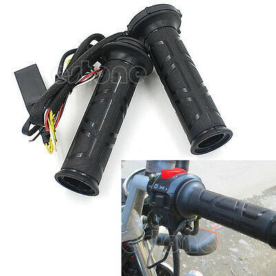 "7/8"" Motorcycle Electric Hot Heated Molded Grips Handle Handlebar Warmer New"
