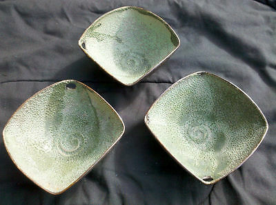 2 Rare Hong Rubinstein Artistic Ceramic Asian Bowls SIGNED by Artist, Set of Two