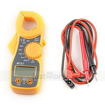 New  MT87 AC DC Votage Electronic Tester LCD Digital Clamp Multimeter Meter Test