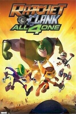 RATCHET AND CLANK POSTER ~ ALL4ONE 22x34  All 4 One Video Game