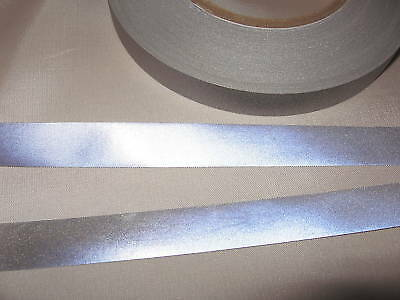 SILVER  REFLECTIVE TAPE SEW 0N  15mm wide  x 5m