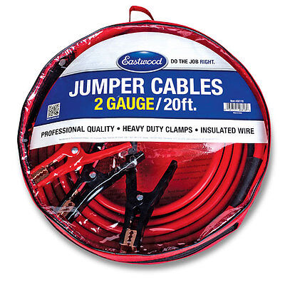 Eastwood Extra Heavy Duty 2 Gauge Jump Start Battery Booster Jumper Cables