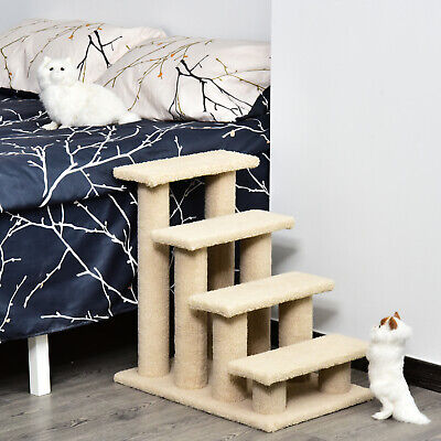 24'' Cat Tree 4-Step Stairway Perch Scratcher Pet Steps Stairs Dog Ramp Ladder