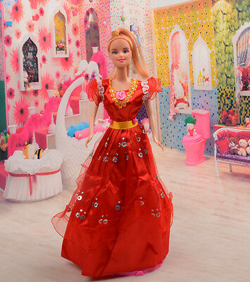 2014 new style Fashion Handmade princess  party Clothes dress For Noble Doll D05