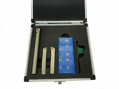 RDGTOOLS 5PC TURNING BORING TOOLS SET 12mm SHANK WITH TCMT 11 TIPS MYFORD
