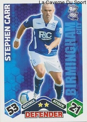 Stephan Carr # Ireland Birmingham City.fc Card Premier League 2010 Topps