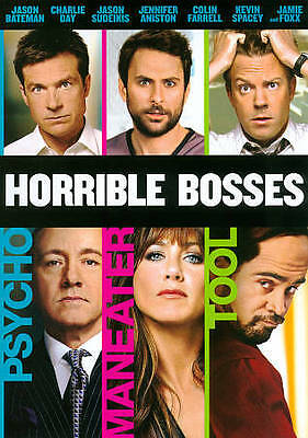 HORRIBLE BOSSES DVD (2011)  Jennifer Aniston Kevin Spacey Jason Sudeikis NEW