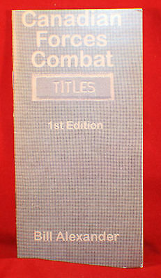 BOOK: Canadian Forces Combat Titles 1st Edition - Checklist