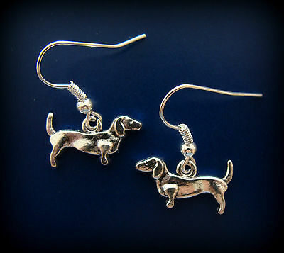 DACHSHUND DOG PUPPY DOGGY EARRINGS - Weiner Hot Dogs ART DECO style Jewelry
