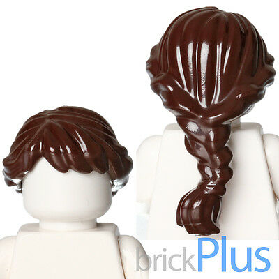 LEGO Minifigure Hair DARK BROWN 11261 Female Girl Long with Braided Front