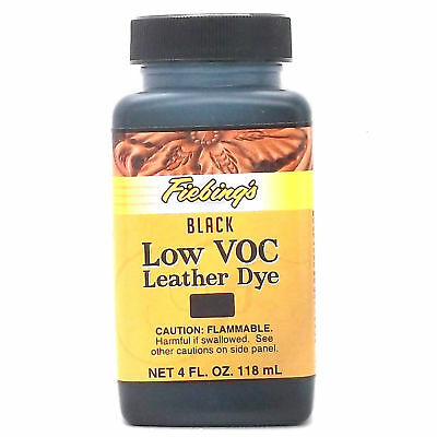 Black 4 oz. (118 mL) Fiebing Low Voc Leather Dye
