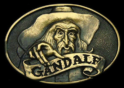 Jrr Tolkien's ~ Gandalf ~ Solid Brass Belt Buckle ~ Extremely Rare ~ Brand New!!