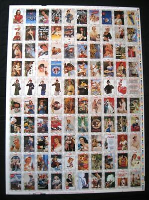 Coca Cola Series 2 Uncut Sheet of 100 Cards - 1994 NEW OLD STOCK