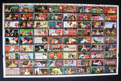 """Coca Cola """"Sign of Good Taste"""" Uncut Set of 72 Cards - 1996 NEW OLD STOCK"""
