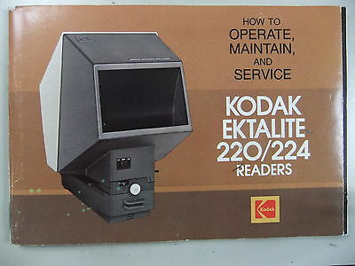 Instructions projector  KODAK EKTALITE 220 / 224 READERS - CD/Email