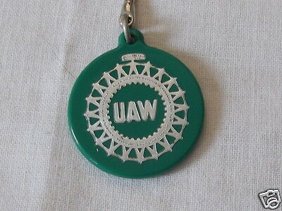 Retro UAW United Auto Workers Advertising Key Chain