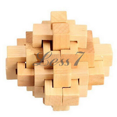 Chinese Kongming Luban Intelligence Wooden Lock Puzzle Toy For Child adult