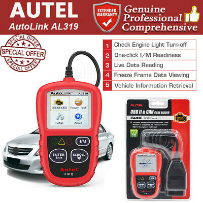 Autel Autolink AL319 OBD2 II Diagnostic Code Reader Scanner Tool Color Screen