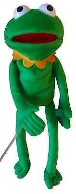 frog puppet, looks like kermit, play. educational, toys
