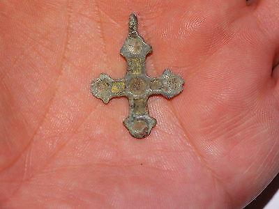 Perfect Viking Cross with enamels . ca 10-11 AD.