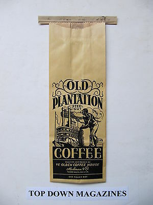 Old Plantation Coffee Paper Bag   Terre Haute, Ind Ye Olden Coffee House