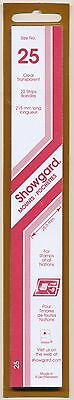 Showgard Stamp Mounts Size 25/215 CLEAR Background Pack of 22