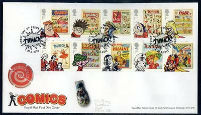 Great Britain 2012 Comics set 10 on first day cover (2014/12/01/#25)