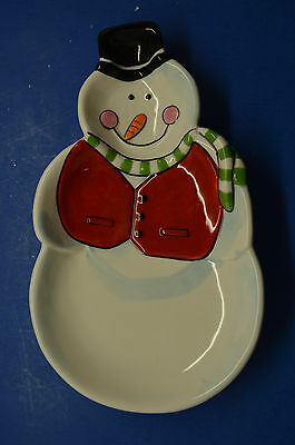 Snowman Spoon Rest - Black Top Hat - Carrot Nose - Scarf